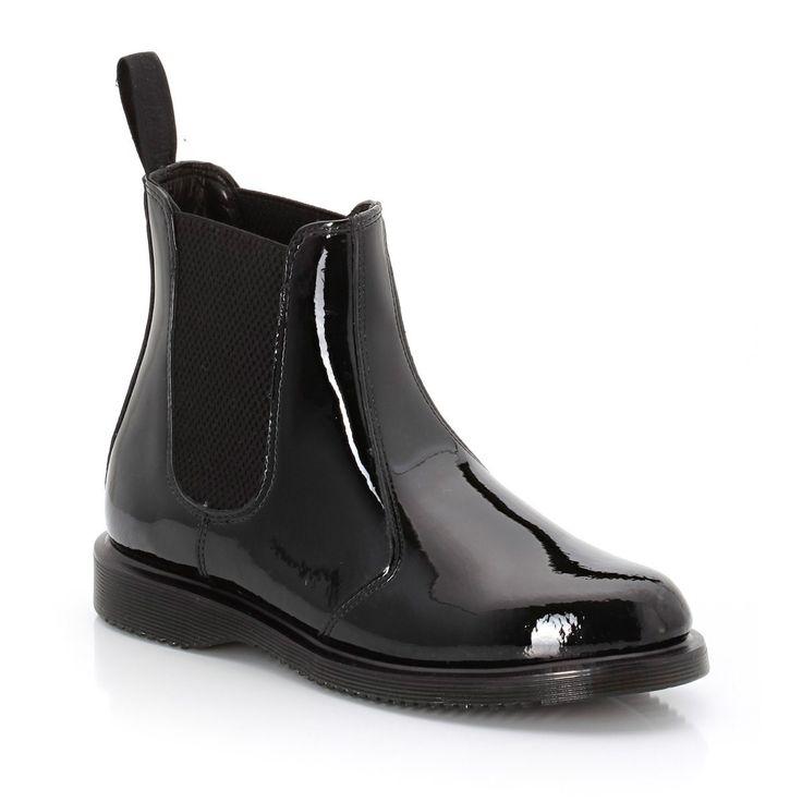 Boots Dr Martens et sa version vernie > http://www.laredoute.fr/vente-bottines-kensington-faun.aspx?productid=324457274 #boots #chaussures #mode #femme #DrMartens