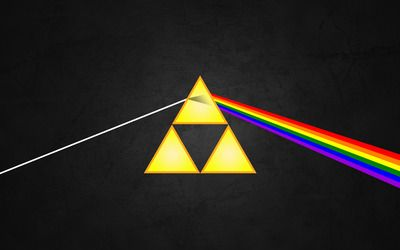 The dark side of the Triforce wallpaper