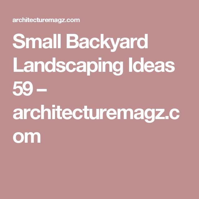 Small Backyard Landscaping Ideas 59 U2013 Architecturemagz.com · Landschaftsbau  IdeenHinterhof IdeenHinterhof HühnerställeHinterhofhühnerVorratstank Pool Kleine ...