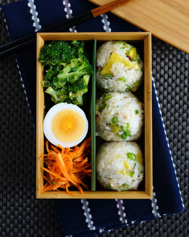 Rice ball bento lunch