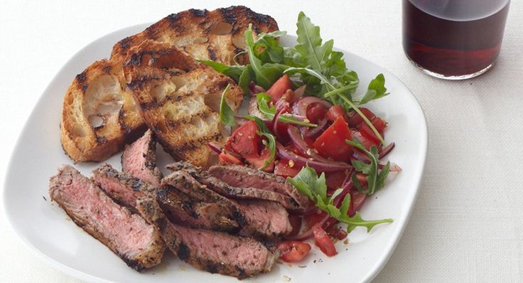 Steak, Italian-style. Great as entrée or in salad.