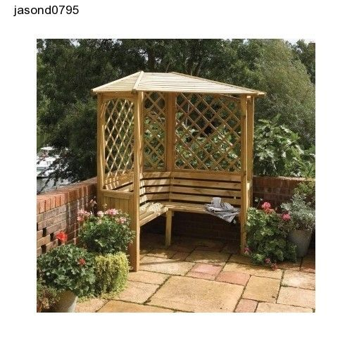 Outdoor Garden Furniture Decking Shed Rowlinson Balmoral Timber Corner Arbour