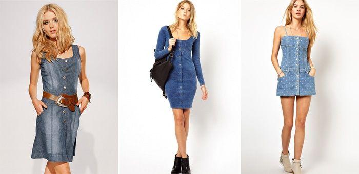 Джинсовые облегающие платья от мировых модельеров