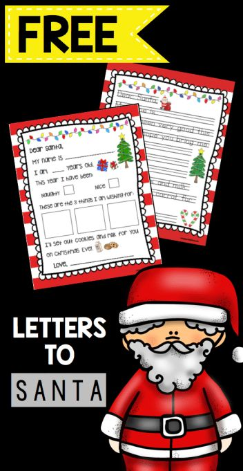 Write a Letter To Santa FREEBIE - adorable free templates for kids to write a letter for the elf to take to Santa