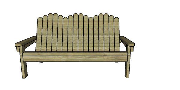 2x4 Adirondack Bench Plans Myoutdoorplans Free Woodworking Plans And Projects Diy Shed Wooden Play Bench Plans Wooden Playhouse Vintage Woodworking Plans