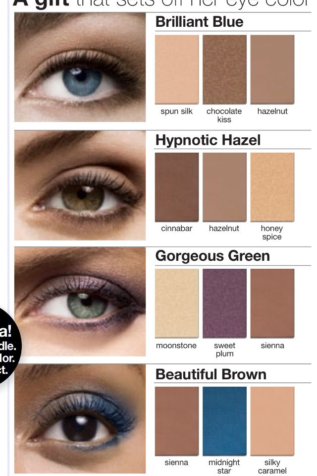 """Mary Kay eye color suggestions. Your eyes are the windows to your soul...make them """"pop""""!    ***FREE SHIPPING (usa only)***    www.marykay.com/khayes1"""