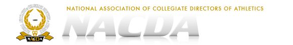National Association of Collegiate Directors of Athletics:  Serves professionals in the field of athletics administration.