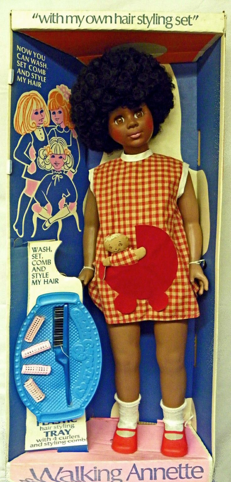 32quot; vinyl Walking Annette doll in box, with tray, comb