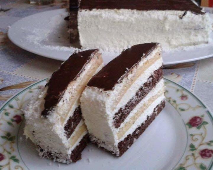 Ti Küldtétek Recept (A recept beküldője: Borossné Kovács Ildikó) Liszt- és hozzáadott cukormentes kókusztorta       Lisztmentes kókuszos torta     Lisztmentes kókuszos torta RECEPT: Kakaós lap:  5 tojás 5 ek. eritrit(eritrit ITT!) 5 ek. kakaó(kakaópor ITT!)  Fehér lap: