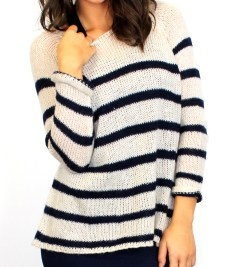 Living Doll maritime stripe knit $64.95 | threads and style