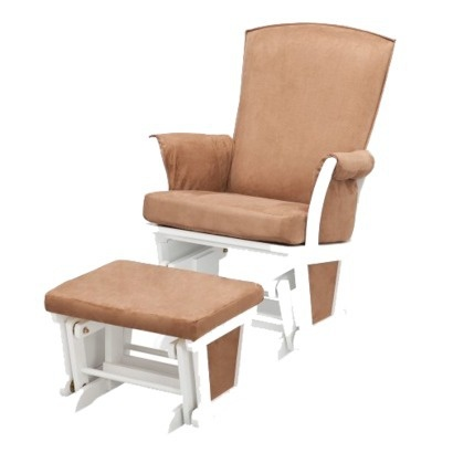 delta upholstered glider and ottoman 1