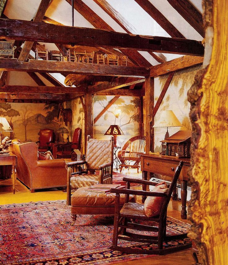 Sitting Room With Rockers, Leather Sofa And