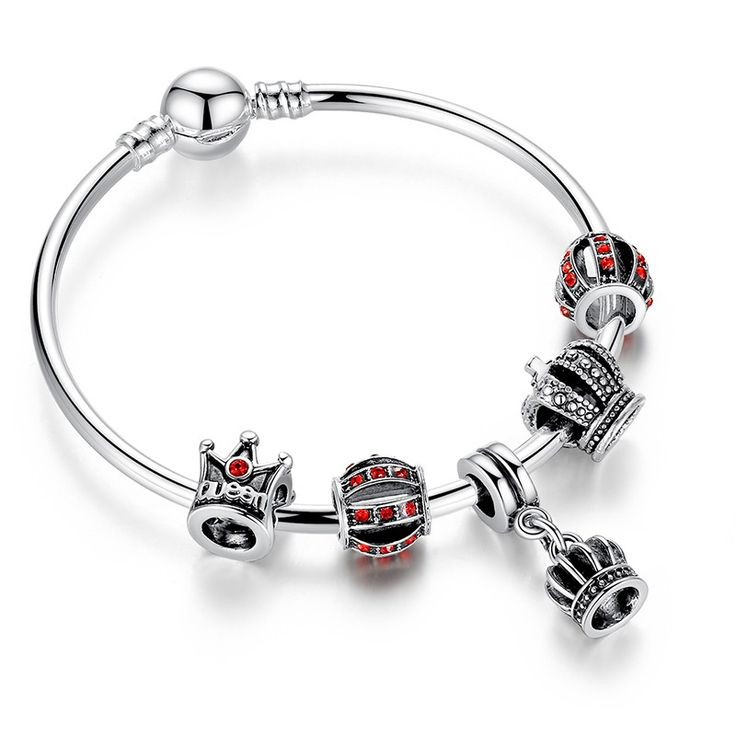 Queen & King Crowns Charm Bangle ($18USD) - SharezUp donates one clothing piece of your choice to people in need for every sale. Let's #changetheworld together!