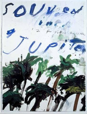 Cy Twombly - Souvenir - 1992             (like a hurricane...   ..on Jupiter)