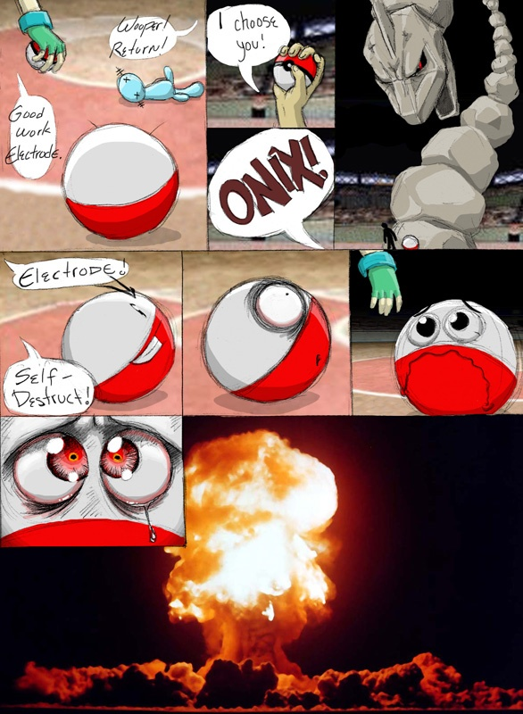 Pokemon Electrode In A Realistic Scenario