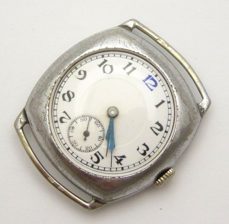 WW1 Trench Style Wrist Watch Swiss Made Nickle Chrome Case - The Collectors Bag