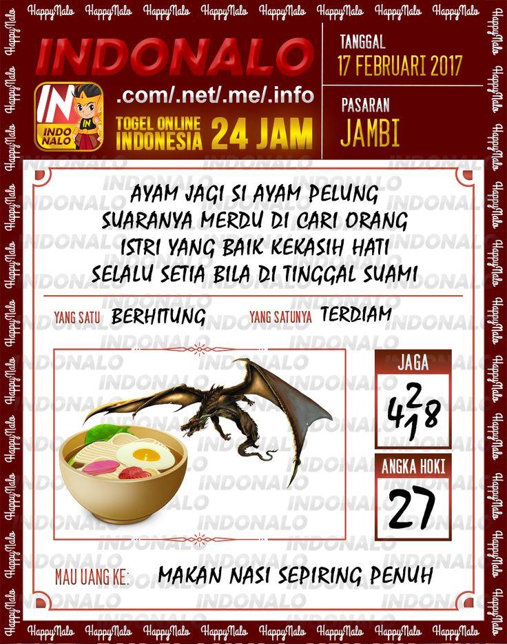 Angka Taysen 6D Togel Wap Online Live Draw 4D Indonalo Jambi 17 Februari 2017