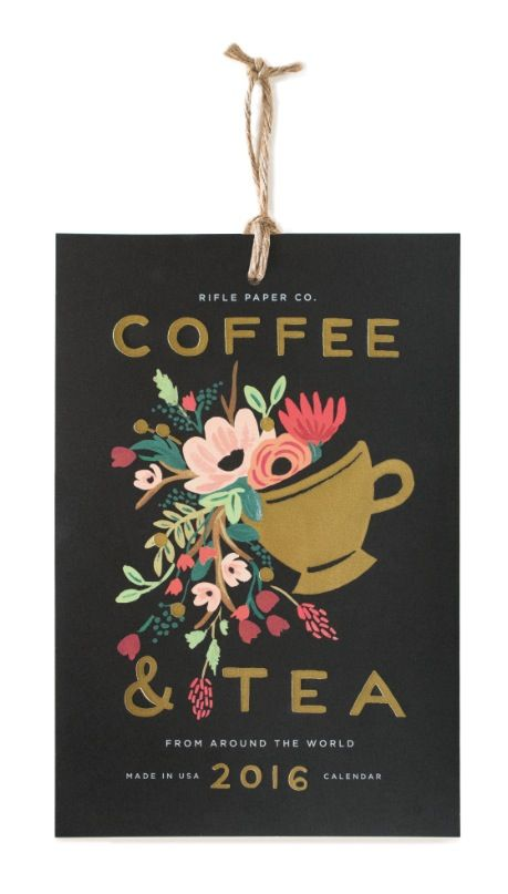 2016 Tea & Coffee Calendars designed by Anna Bond for US stationery and gift brand, Rifle Paper Co. will be available in the UK in August 2015