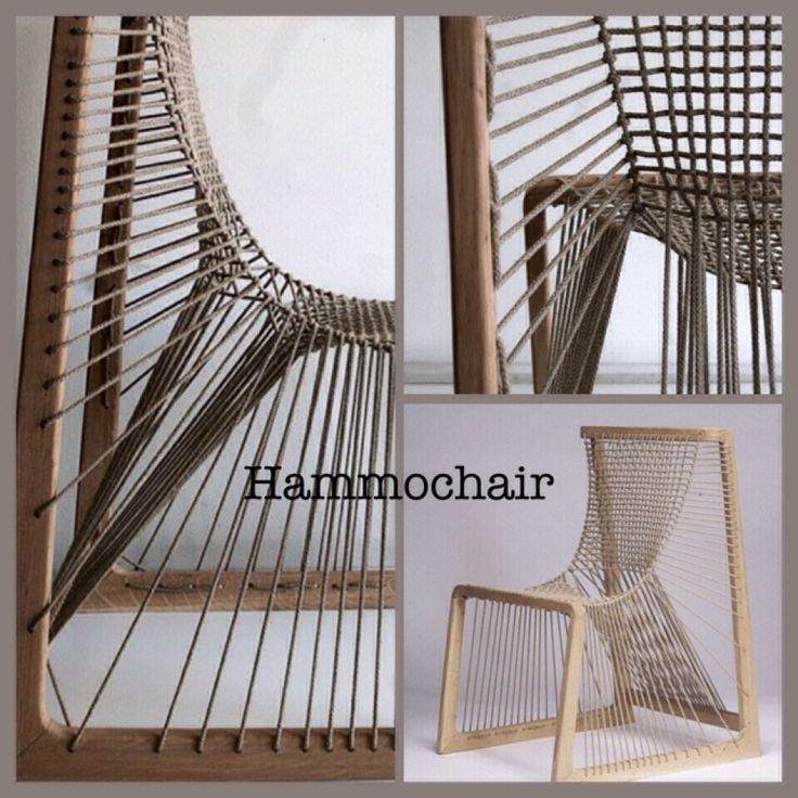 HammoChair by Francesco D'Onghio. Flag Halyard cord by Århus Possementfabrik www.aarhus-possement.dk