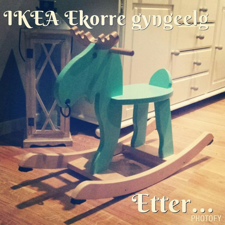 Painted the Ekorre from Ikea. I like the teal better than the red.