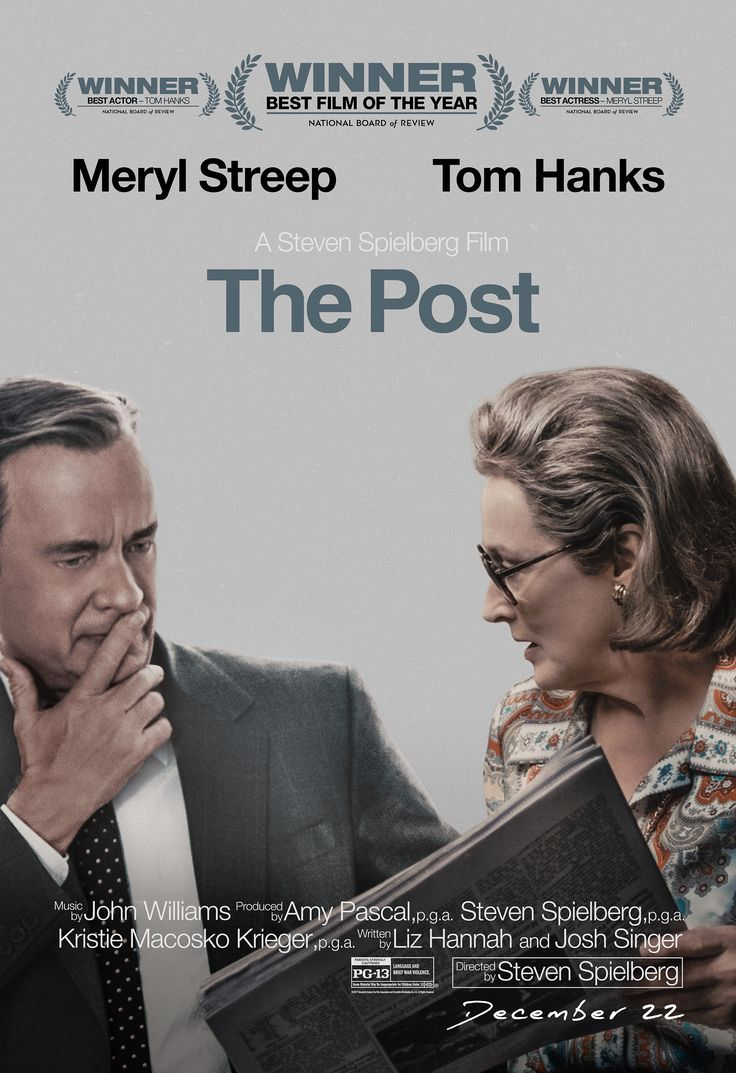 The Post: IMHO it doesn't deserve Best Film, but it was very good. Tom Hanks, especially.