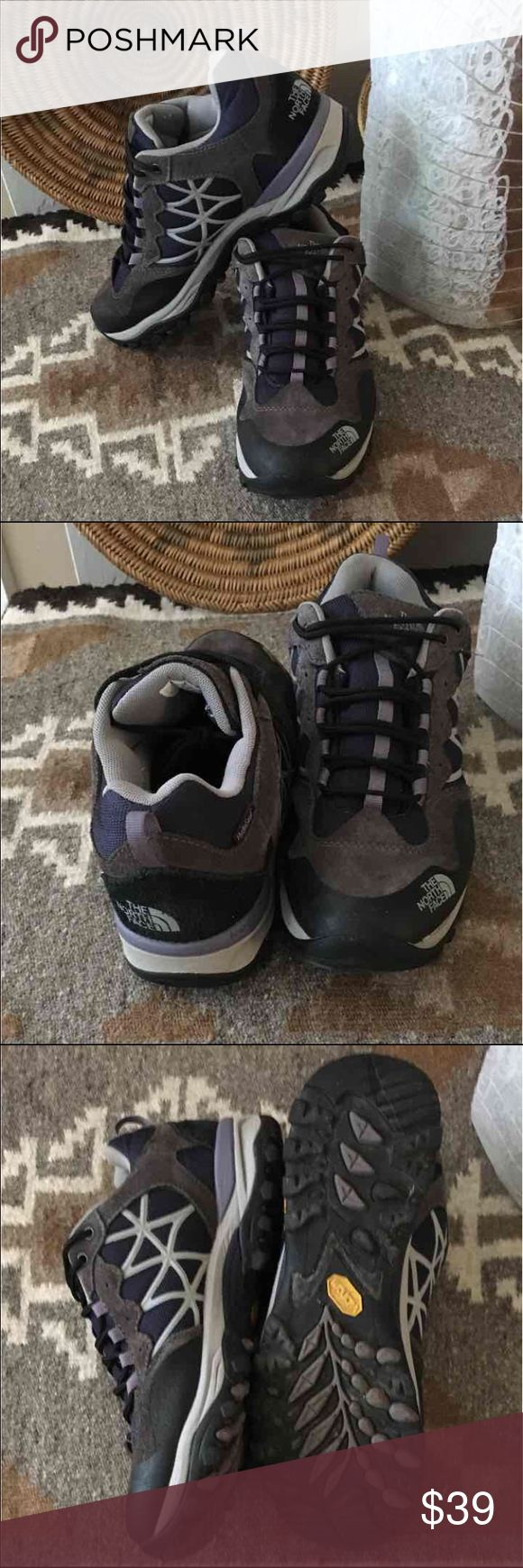 The North face trail shoe Hedgehog 10 These Northface  are in great used condition! Minimal wear and great tread! These have the heel cradle protection and hydro seal waterproof material for an awesome hiking experience. The North Face Shoes Athletic Shoes