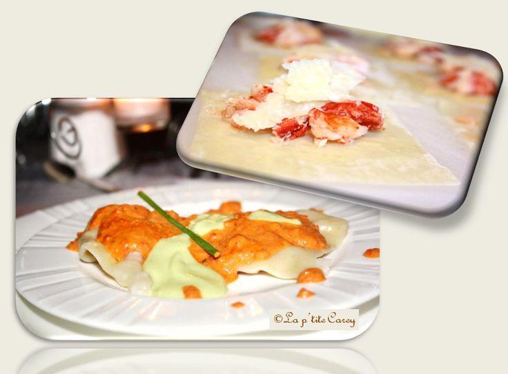 Popote & Talons hauts: Raviolis de homard, sauce rosée au Cognac et crème...