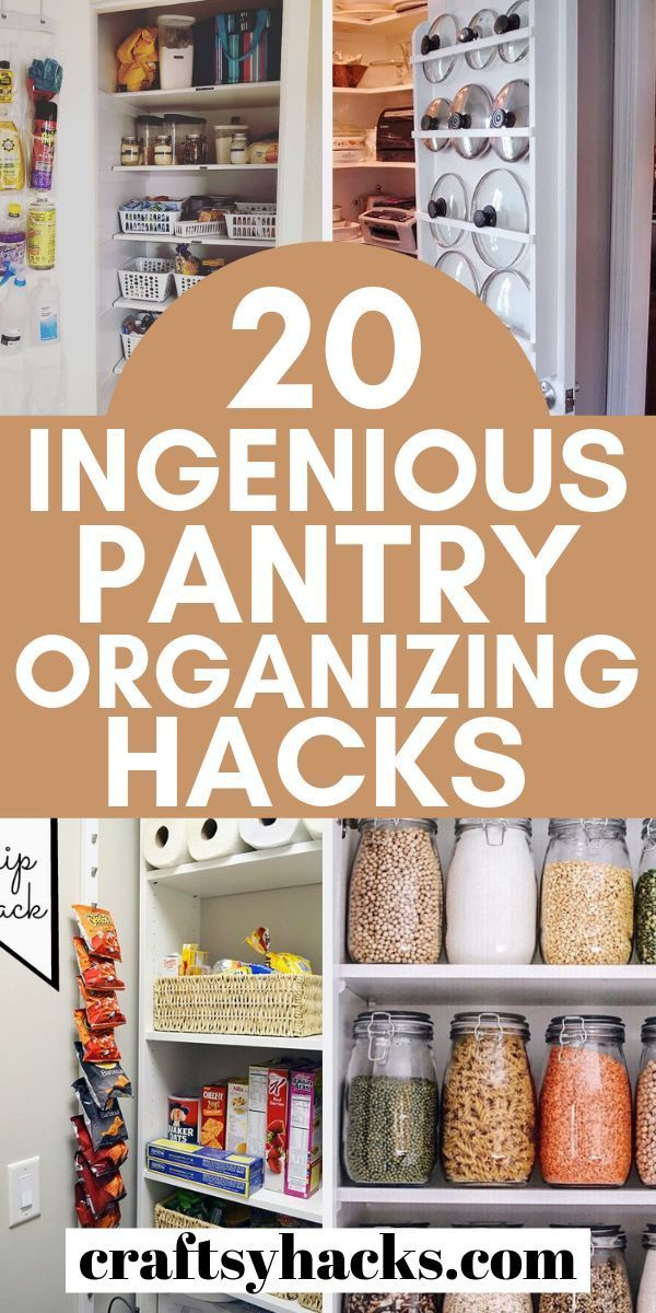 20 Clever Pantry Organization Ideas Pantry Organization Hacks Kitchen Organization Pantry Kitchen Pantry Cabinets