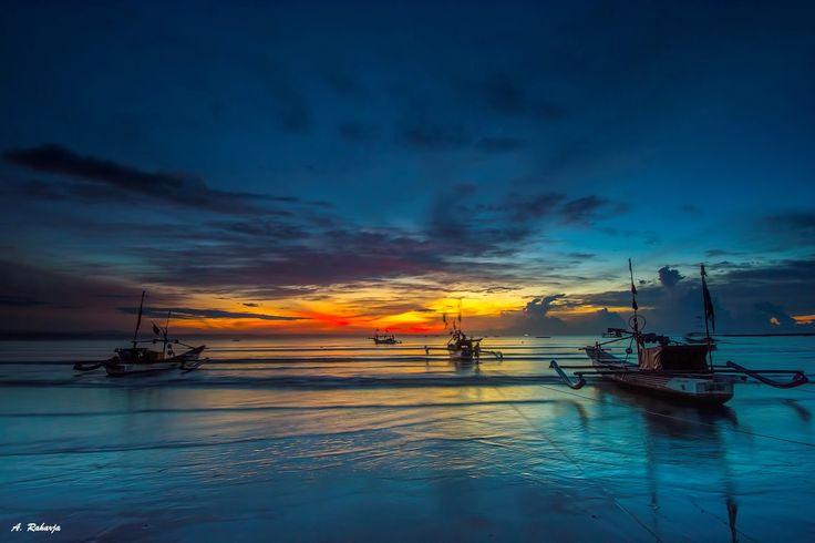 Rock the Boat - Sunrise at Ujung Genteng Beach, Sukabumi, West Java , Indonesia.