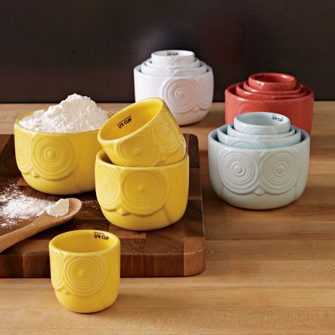 White Owl Measuring Cups | west elm Now trending: Owls in my