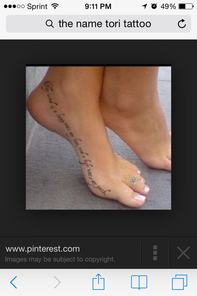Foot tattoo #quote