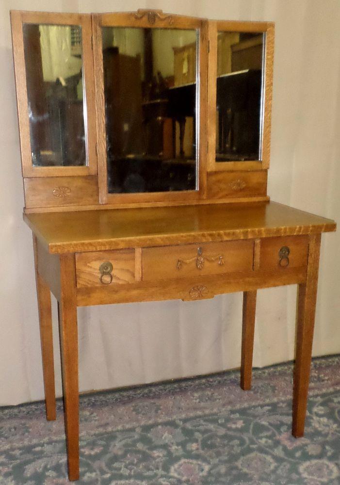 Chittenden Eastman Oak Vanity Rustic Dresser Hinged