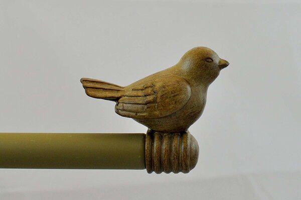 Prejean Bird Adjustable Drapery Single Curtain Rod Hardware Set In