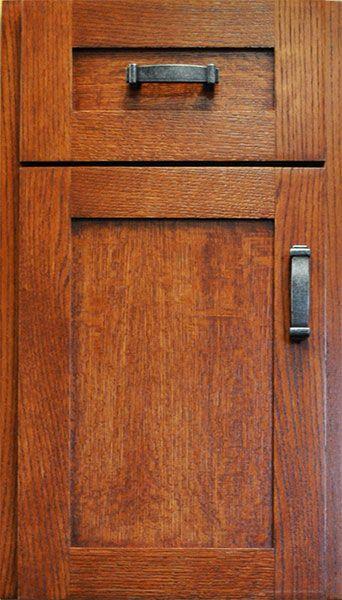 Cabinet Door Style: Shaker IV made from Quarter Sawn Oak