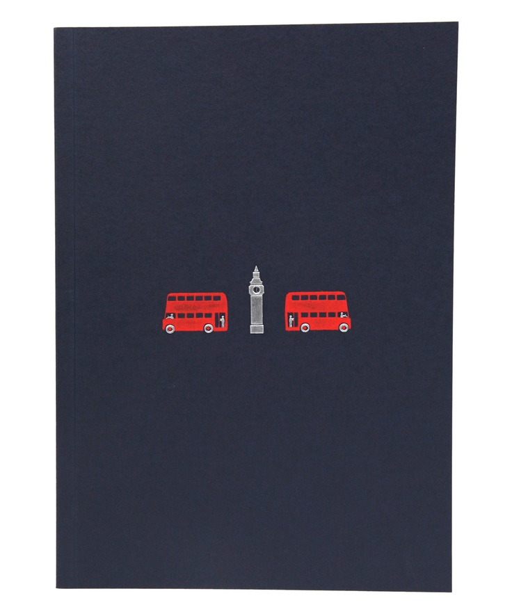 Sleek, black London notebook, from Liberty.