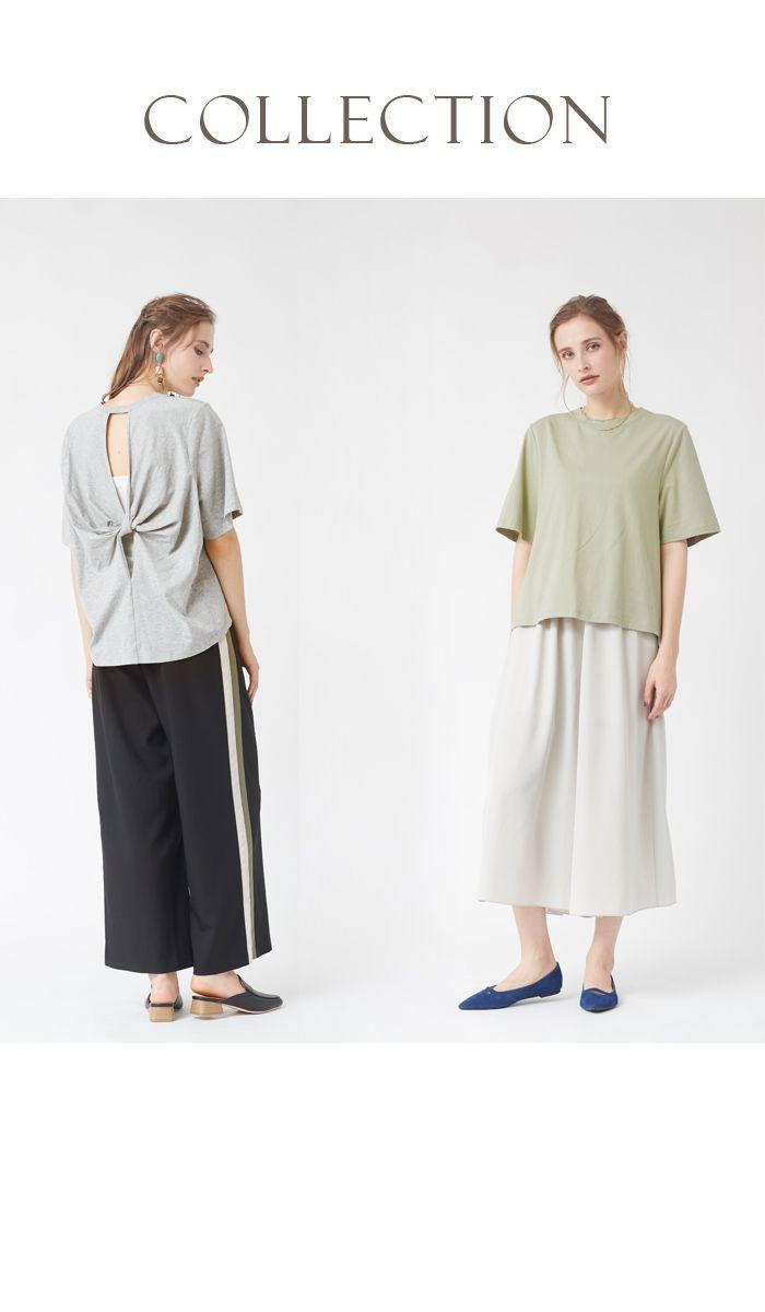 商品詳細           商品説明  後ろ姿まで美しく魅せる、バックのツイストがポイントのカットソープルオーバー。 シンプルなTシャツですが、後ろのディティールが女性らしいデザイン。 後ろ着丈は前着丈より少し長めになっており、腰回りをカバーしてくれます。 綿100%で汗をかくシーズンでも涼しく、着心地が良いのも嬉しいポイント。 どんなボトムスとも相性が良く、着回し力のあるアイテムです。    サイズ  前着丈:約55cm、後着丈:約60cm、バスト:約108cm、肩幅:約37cm、アームホール:約52cm、袖丈:約27cm、裾幅:約55cm        ◆当店のサイズ表記について    素材  綿 100%    生地        やや薄手のカットソー生地    伸縮性  あり    透け感  ホワイトのみ多少あり    裏地  なし    重量  約150g    生産国  made in china    モデル  【Izabera】Height:174cm Bust:79cm Waist:60cm Hips:88cm Shoes:24-24....