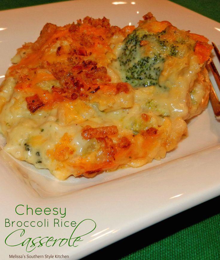 Cheesy Broccoli Rice Casserole | Recipe | Cheesy broccoli ...