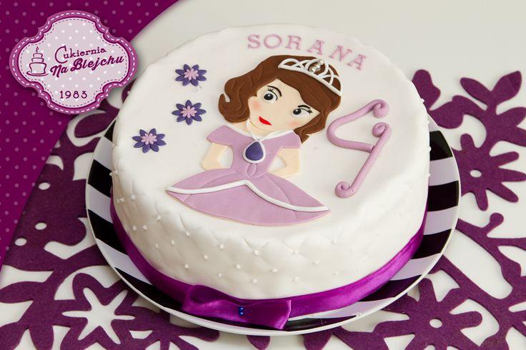 Tort w stylu angielskim, torty dla dziecka, tort urodzinowy, tort z księżniczką Zosia, bajka, Księżniczka Zosia, bajkowy tort dla dziewczynki