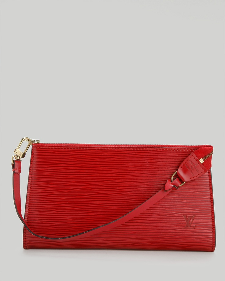Louis Vuitton LU Epi Leather Pochette Clutch