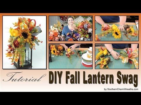 (635) How to Make a Fall Lantern Swag - YouTube