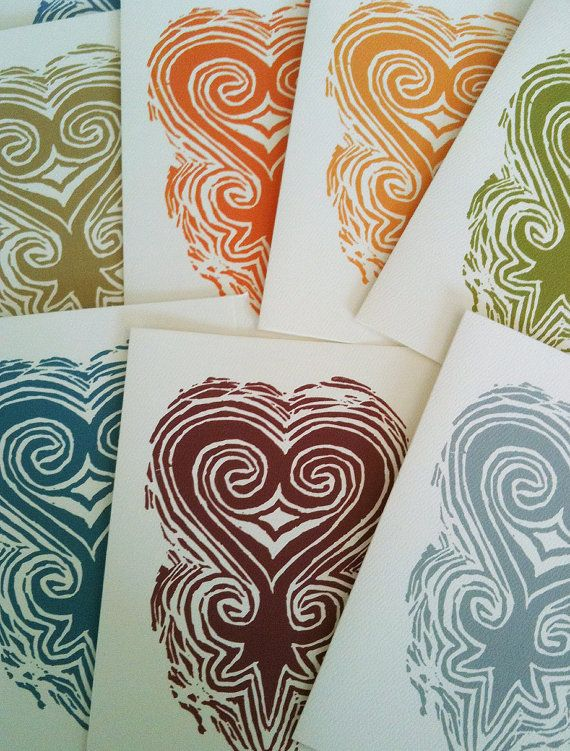 """SANKOFA """"Learn from the Past"""" Set of 6 Notecards by SatuitTradingCo on Etsy,"""