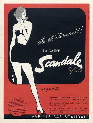 Scandale (Lingerie) 1953 Girdle, René Gruau