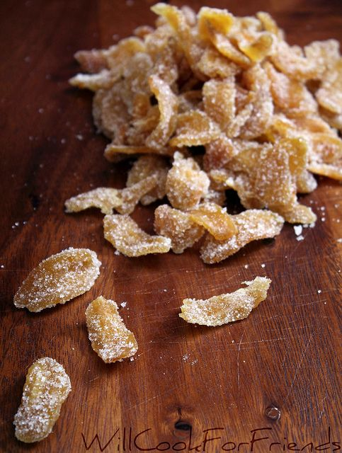 Make your own candied ginger (for much less than buying it.) have to remember this for when preg!