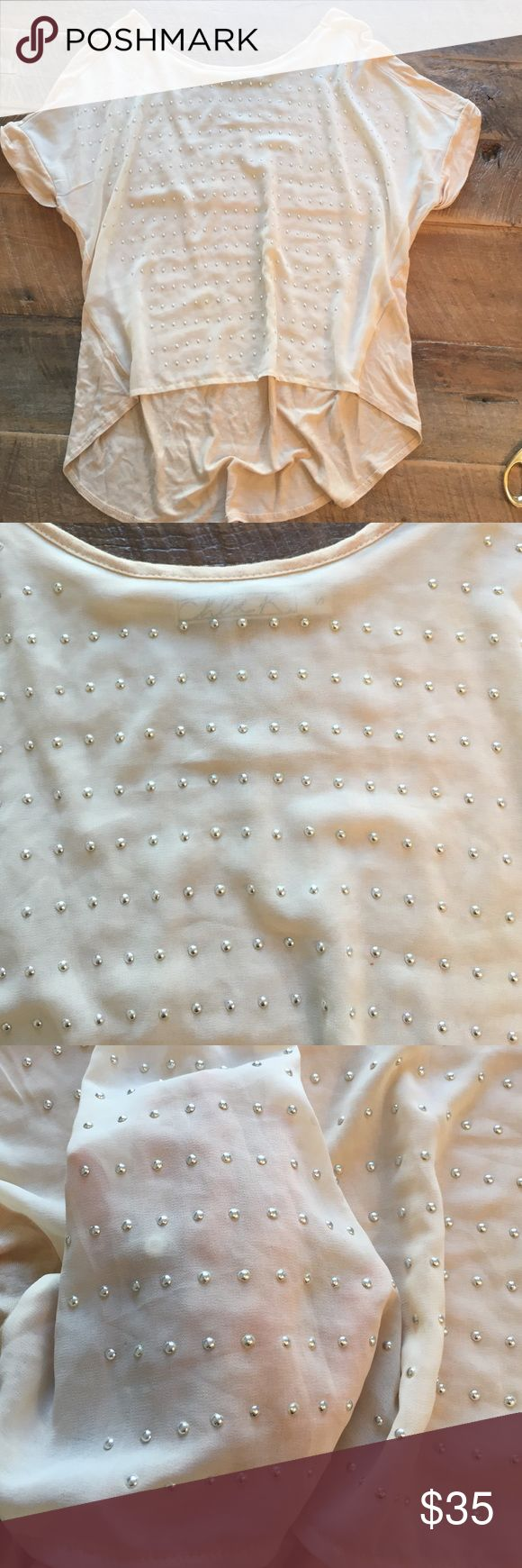 🆕 Beautiful Chloe K Neutral Shirt Beautiful fit. Front is sheer. Only worn twice. From Nordstrom. Chloe K Tops Blouses
