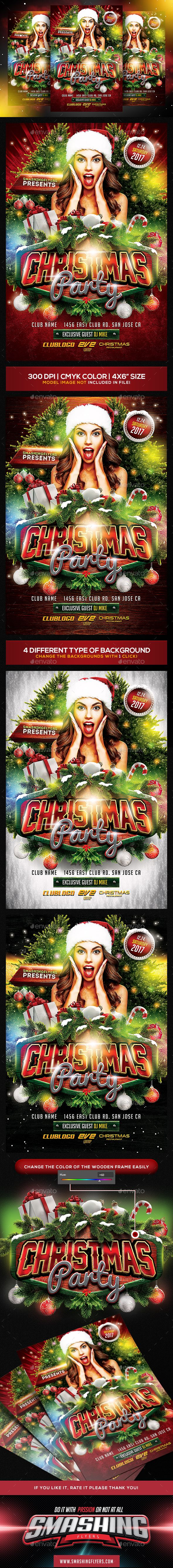 #Christmas Party #Flyer Template - Clubs & Parties Events