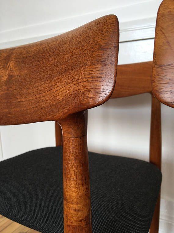 Mediados siglo danés teca juego de comedor de ocho 8 sillas
