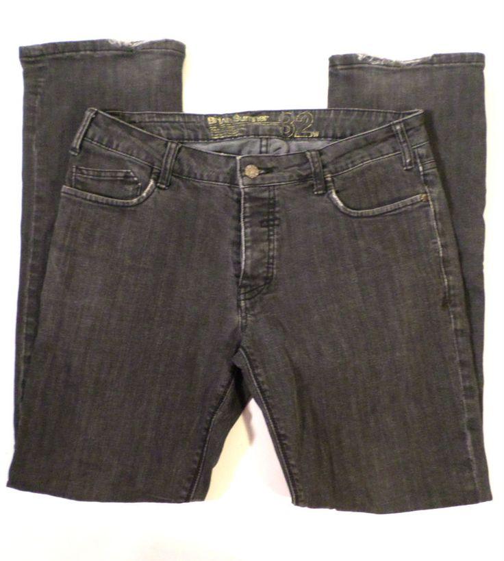 Mens Size 32x32 Brian Sumner Analog Slim Fit Jeans, Gray Wash, UK Skater