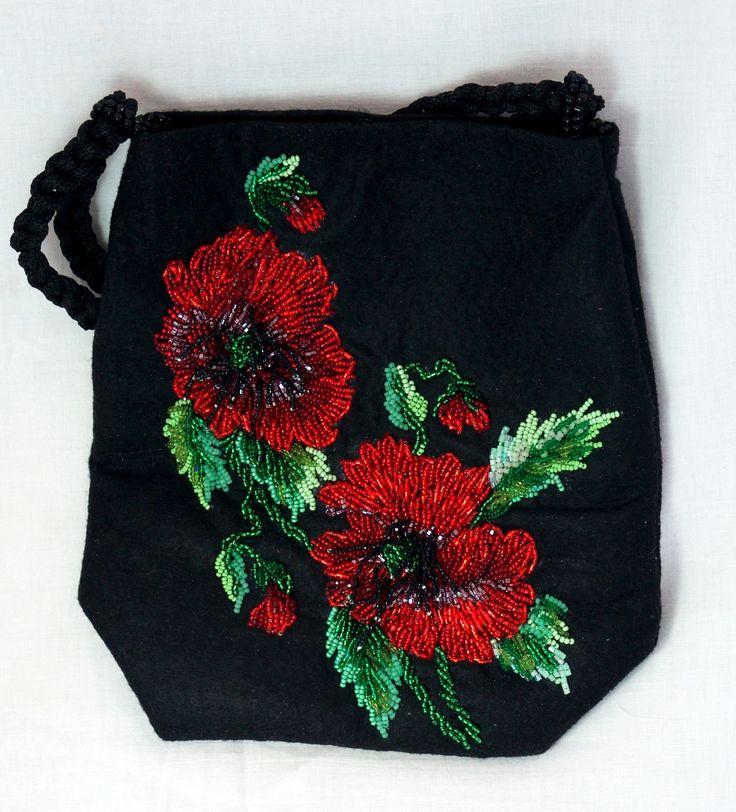 Poppies purse