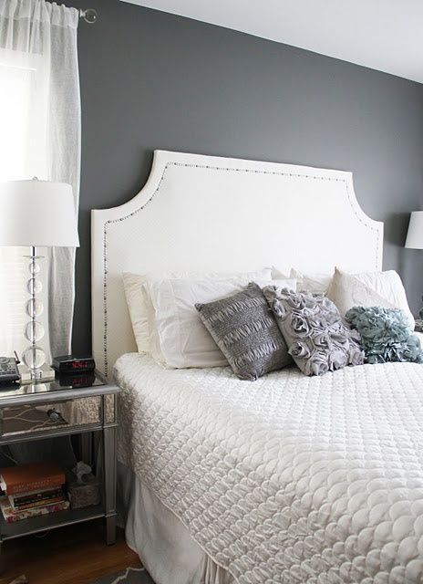 amherst gray by benjamin mooore gorgeous bedrooms. Black Bedroom Furniture Sets. Home Design Ideas