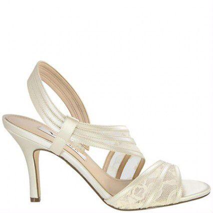 Elegante ivoor trouwschoenen